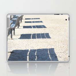 Shadows of empty benches Laptop & iPad Skin