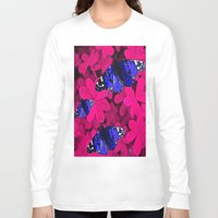butterfly Long Sleeve T-shirts featuring  Butterfly  by Saundra Myles