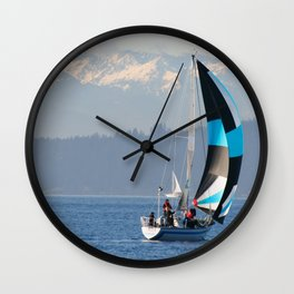 Sailing the Pacific Northwest Wall Clock