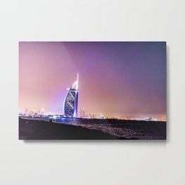 Sun rises, Burj Al Arab Wakes You Up Metal Print