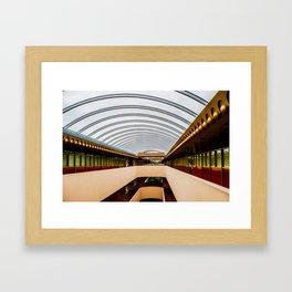 Marin County civic buildings Framed Art Print