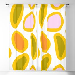 Colorful Abstract Candies on White Background - Joyful Spring/Summer Color Palette Blackout Curtain