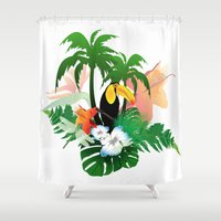 toucan Shower Curtains featuring Toucan by nicky2342