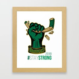 Stay Strong with HULK Humboldt Broncos! Framed Art Print