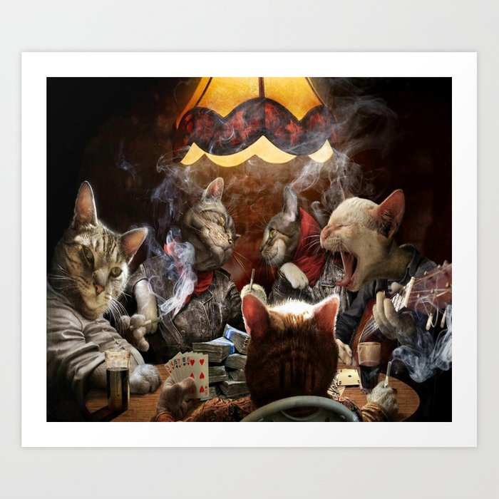 Cats Playing Poker Art Print by scooby172