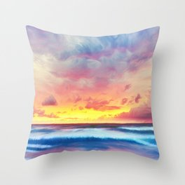 Lonas planet stormy evening Throw Pillow