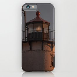 Eastern point Lighthouse Tower at sunset iPhone Case