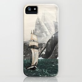 Ship In Cold Sea iPhone Case