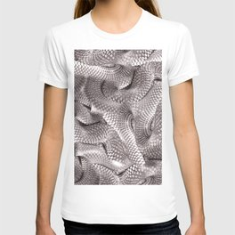 Abstract snake skin pattern T-shirt