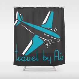 Travel By Air Shower Curtain