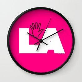 (mano)LA logo Wall Clock