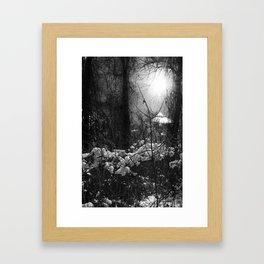 A faerie tale in winter Framed Art Print