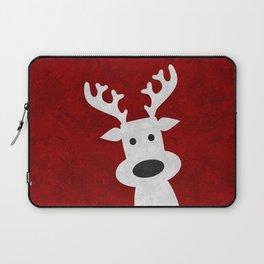 Christmas reindeer red marble Laptop Sleeve