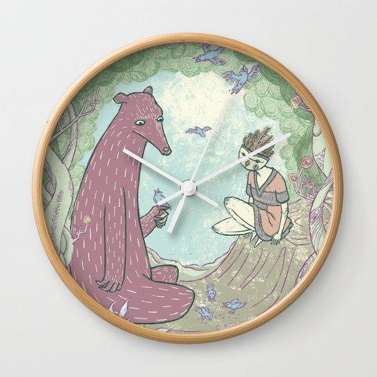 Bear and Bird Wall Clock