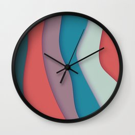 Ribbons of Colors Wall Clock