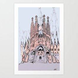 La Sagrada Familia Art Print
