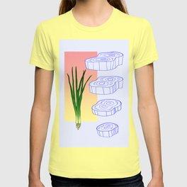 scallion cross section graphic T-shirt
