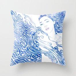 Water Nymph LXXVIII Throw Pillow