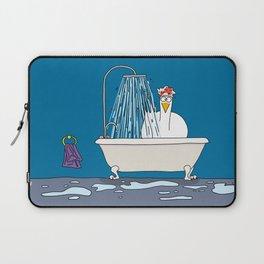 Eglantine la poule (the hen) in the shower. Laptop Sleeve