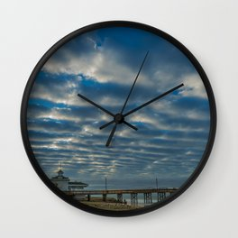 Waves in the Sky Wall Clock