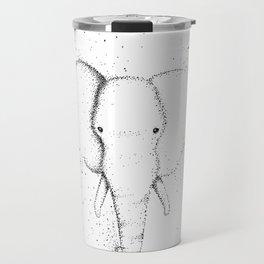 Elephant Ink Drawing Design Travel Mug