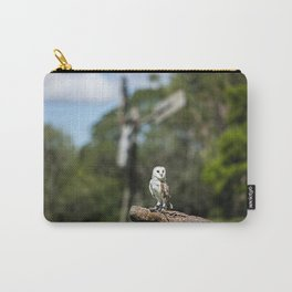 Beautiful Barn Owl Carry-All Pouch