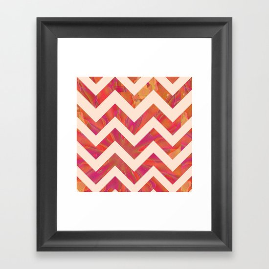 Spitfire Chevron Framed Art Print