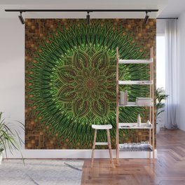 Earth Flower Mandala Wall Mural