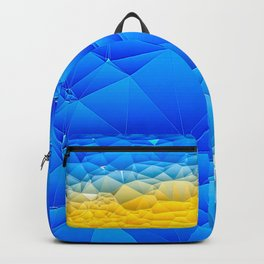 Sunshine and Blue Sky Quilted Abstract Backpack