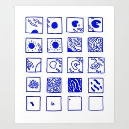 processos naturais Art Print