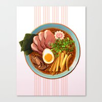 ramen Canvas Prints featuring Ramen by Tami Wicinas
