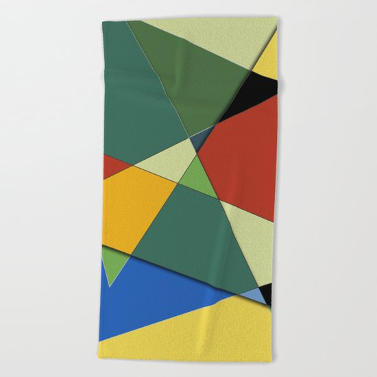 Abstract #323 Vincent's Palette Beach Towel