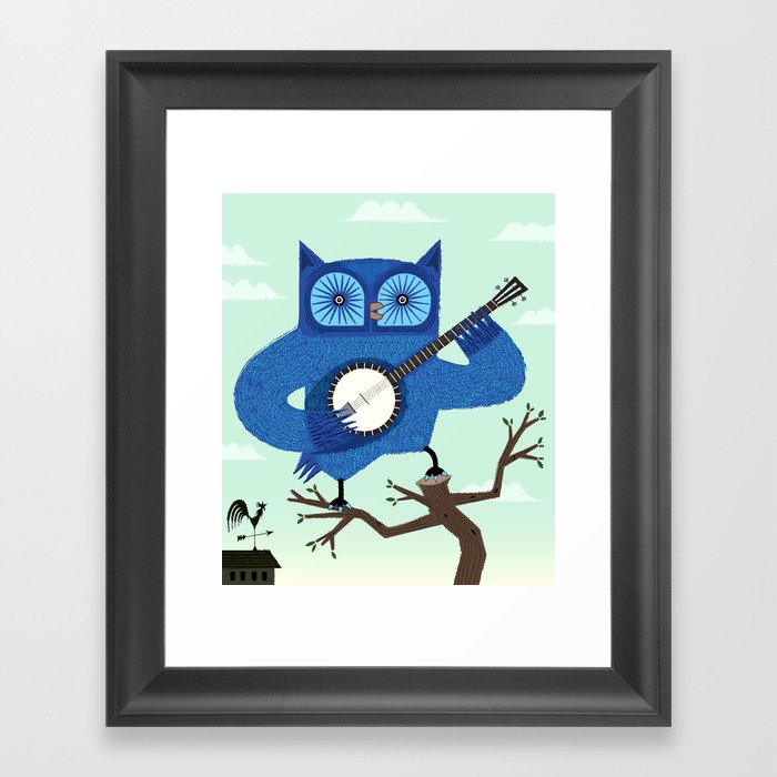 The Banjowl Framed Art Print