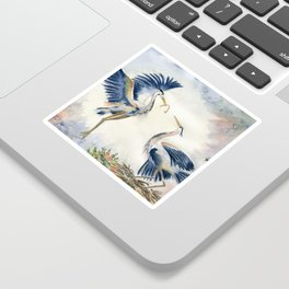 Great Blue Heron Couple Sticker