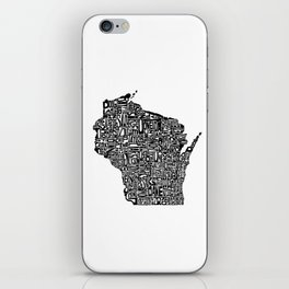 Typographic Wisconsin iPhone Skin