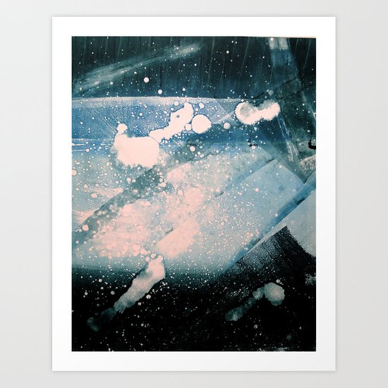 Ice Ink Art Print