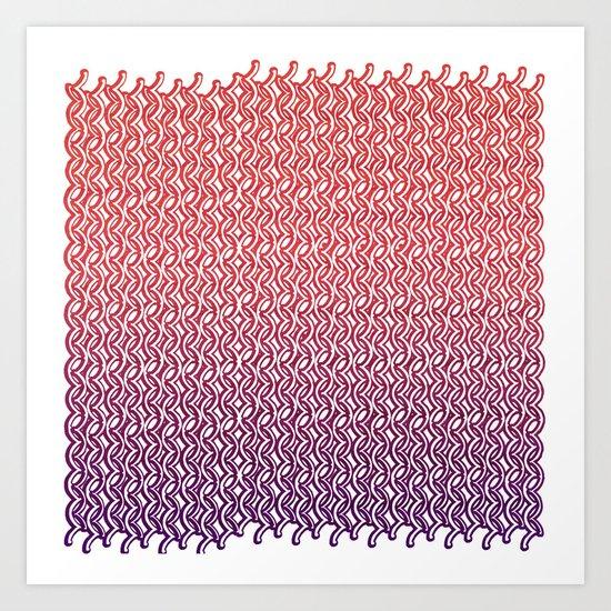Knit Pattern 02 Art Print