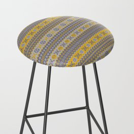 Granny's Fairisle - Honey Yellow Bar Stool