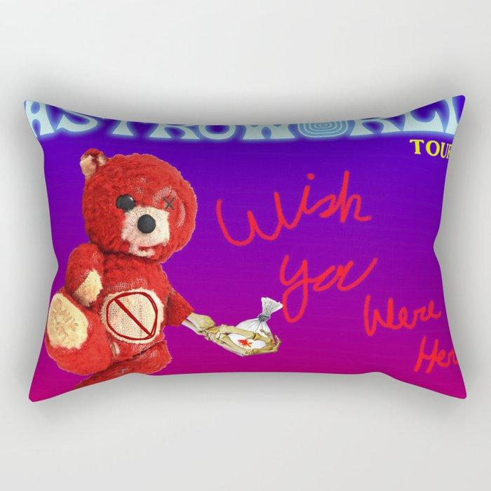 travis astroworld bear tour 2019 merah Rectangular Pillow