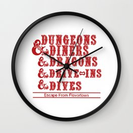 dungeons and dragons red box Wall Clock