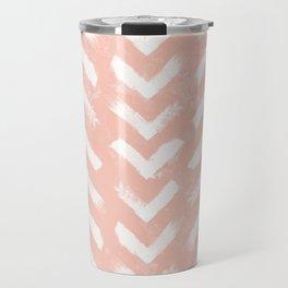 Paintbrush Arrow Pattern Blush Pink Travel Mug