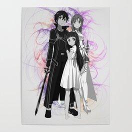 Sword Art Online Kirito Asuna Poster