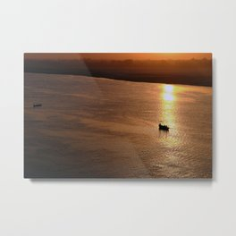 River Ganges India Sunset Metal Print
