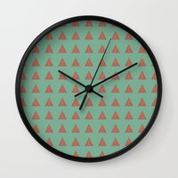 geo Wall Clocks featuring Geo by wendygray