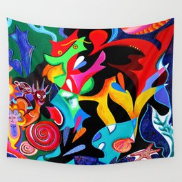 Echoes of Taino and Vejigantes Wall Tapestry
