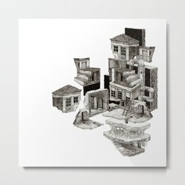 pieces of houses Metal Print