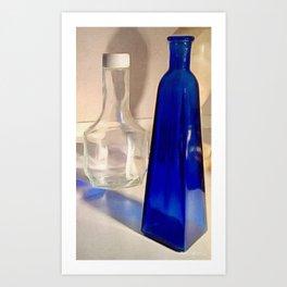 The Blue Bottle Art Print