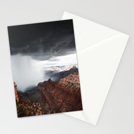 a storm in the grand canyon Stationery Cards