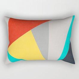 Aggressive Color Block Rectangular Pillow