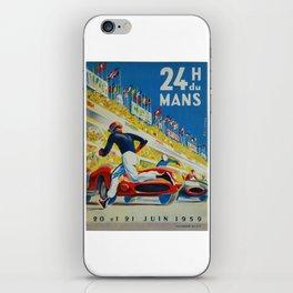24hs Le Mans, 1959, vintage poster iPhone Skin